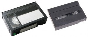 VHS-C and Digital 8 tapes