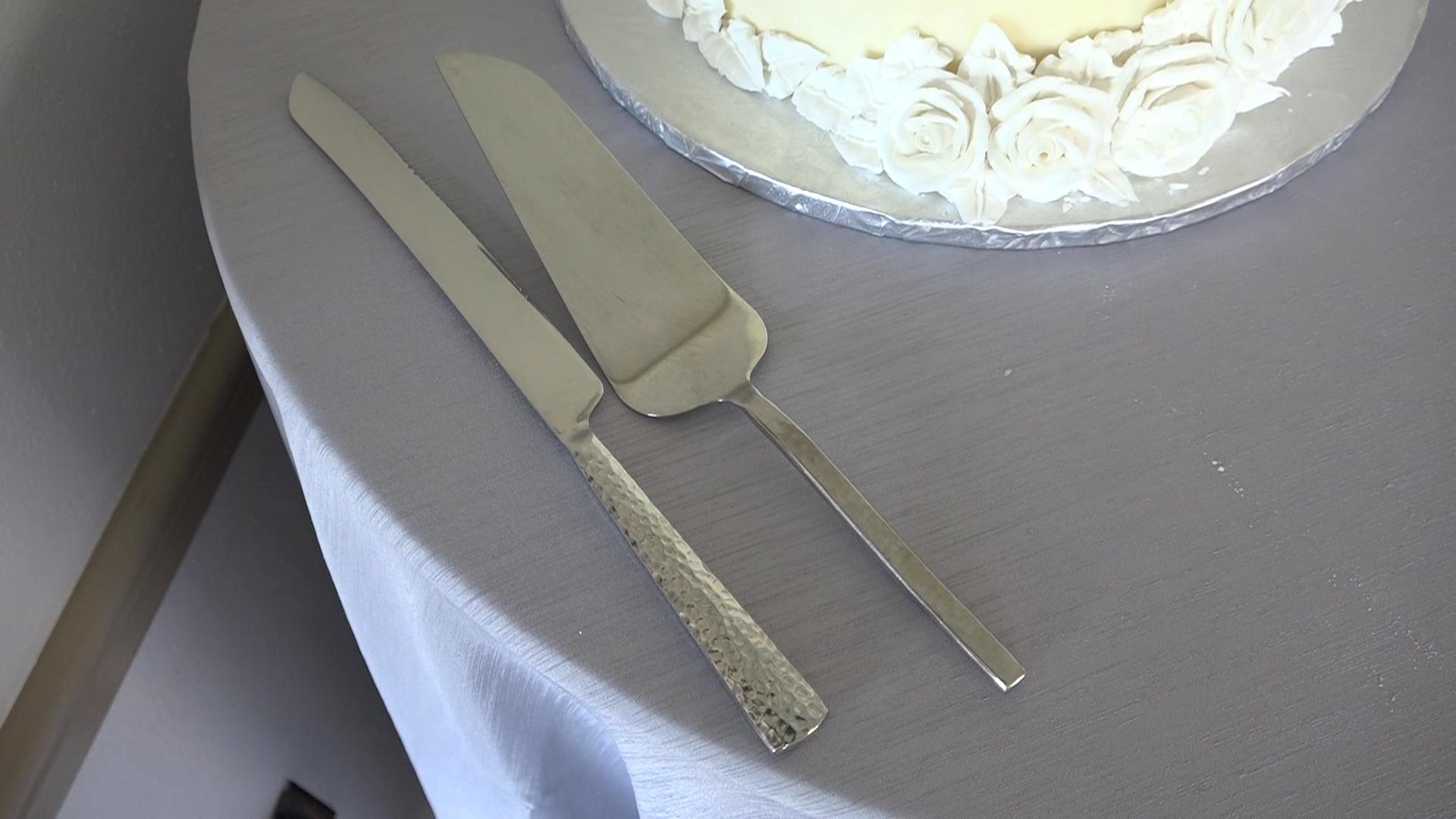 Chris And Todd 25th Anniversary Wedding Renewal Cake Knives Star City Creations
